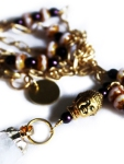 Urban Hippie Citrine & Buddha detail pendant necklace