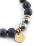 urban_hippie_hematite_lava_bead_gold_czech_glass_power_stone_stretch_bracelet_modelimage2