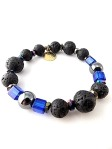 urban_hippie_lava_bead_royal_blue_glassbead_glass_hematite_bracelet_jewellery_modelimage1
