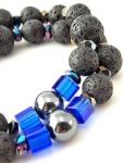 urban_hippie_lava_bead_royal_blue_glassbead_glass_hematite_bracelet_jewellery_modelimage2
