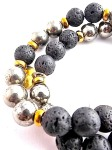 urban_hippie_hematite_lava_bead_gold_czech_glass_power_stone_stretch_bracelet_modelimage13
